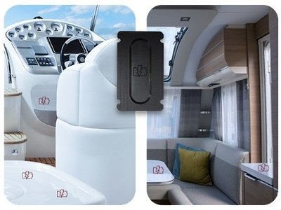 A picture of ATC and NuCurrent's plans to increase wireless charger availabilty installed in sites around an RV or boat