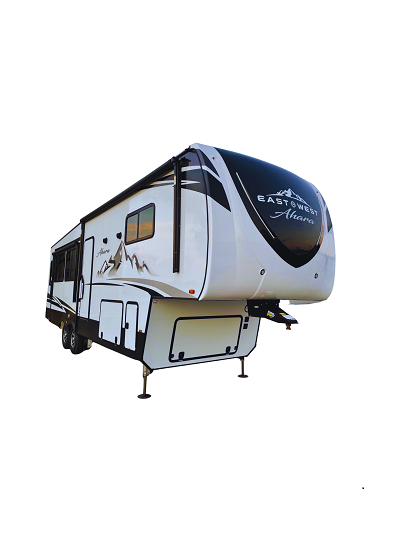 A picture of East to West's 2022 Ahara luxury fifth wheel's exterior