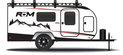 A picture of the Encore RV ROM travel trailer