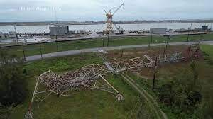 A picture of energy plants in Louisiana after Hurricane Ida made landfall