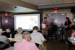 A picture of a seminar being delivered at America's RV Show in Hershey, Pennsylvania.