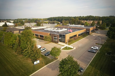 An aerial picture of the exterior of The Shyft Group's new R&D Center in Michigan