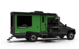 A picture of SylvanSports' prototype for an all-electric RV motorhome