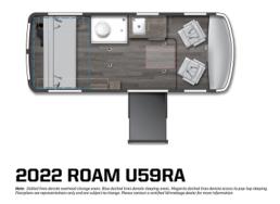 A picture of the 2022 Winnebago Roam U59RA floorplan