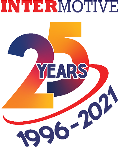 A picture of the InterMotive 25th anniversary logo
