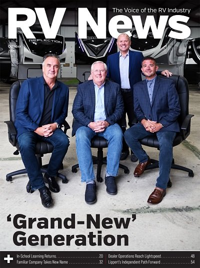 A picture of the October 2021 RV News magazine cover